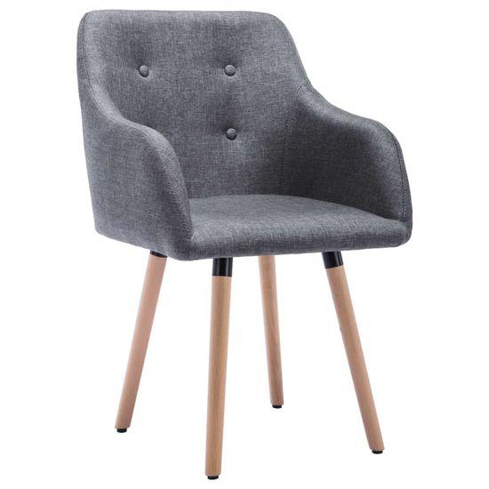 shumee Jedilni stoli 2 kosa temno sivo blago
