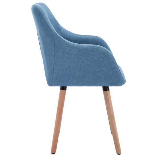 shumee Jedilni stoli 2 kosa modro blago