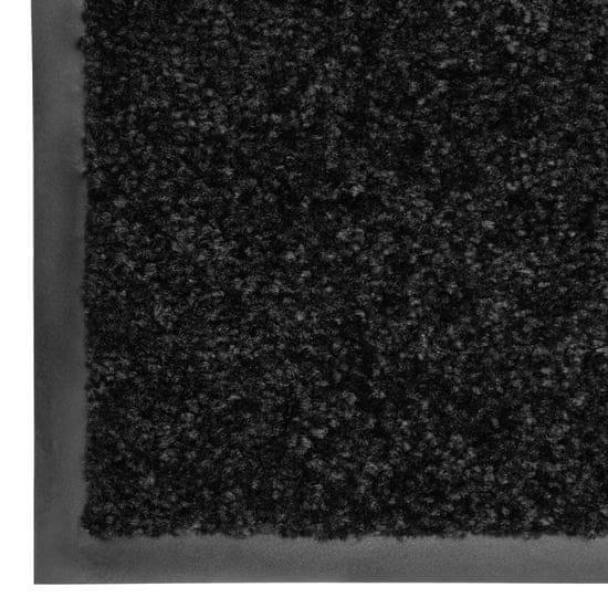 shumee Wycieraczka z możliwością prania, czarna, 90 x 120 cm