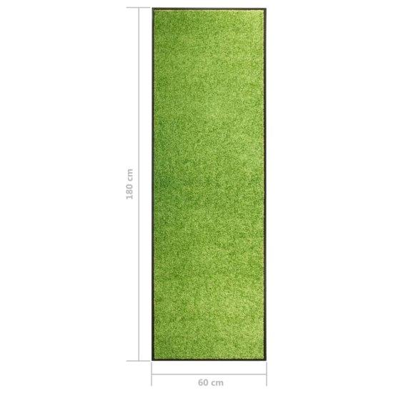 shumee Wycieraczka z możliwością prania, zielona, 60 x 180 cm