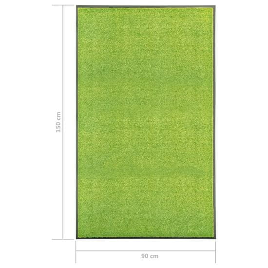 shumee Wycieraczka z możliwością prania, zielona, 90 x 150 cm