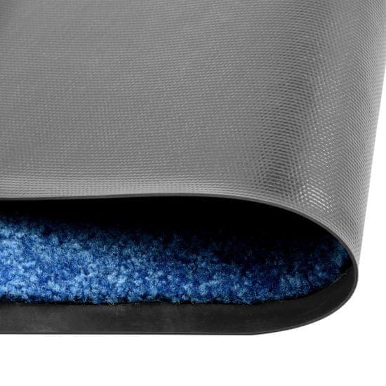 shumee Wycieraczka z możliwością prania, niebieska, 120 x 180 cm