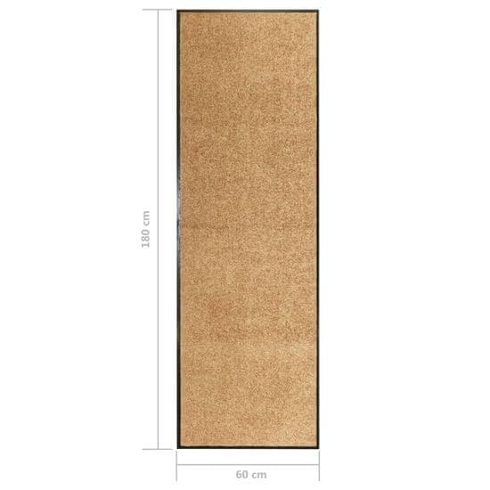 shumee Wycieraczka z możliwością prania, kremowa, 60 x 180 cm
