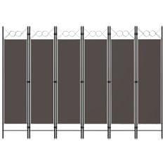 shumee Paraván so 6 panelmi, antracitový 240x180 cm