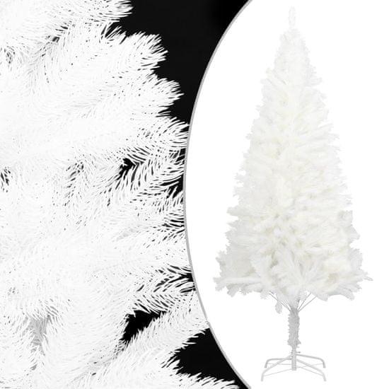 shumee Sztuczna choinka z realistycznymi igłami, biała, 180 cm