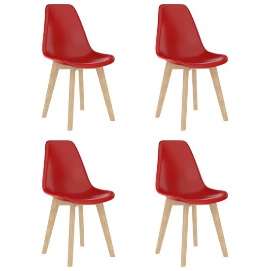 shumee 5-częściowy zestaw mebli jadalnianych, czerwony