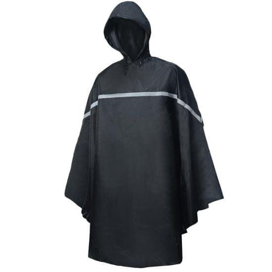 shumee Willex Ponczo przeciwdeszczowe z kapturem, rozmiar uniwersalny, czarne