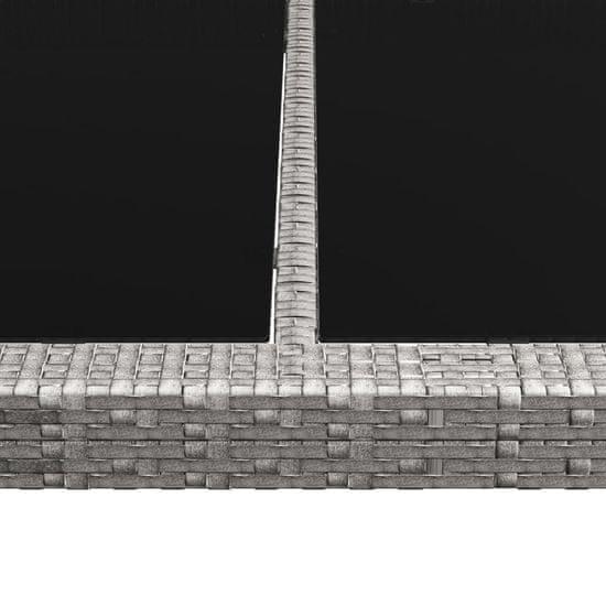 shumee szürke polyrattan kültéri étkezőasztal 200 x 150 x 74 cm