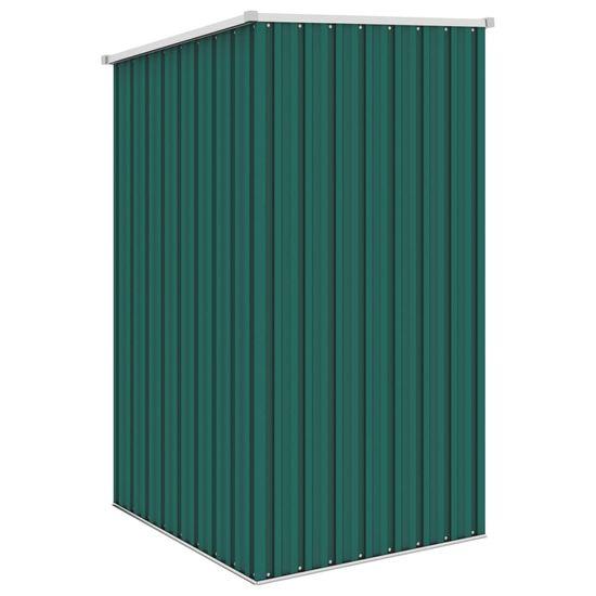 shumee zöld horganyzott acél kerti fészer 87 x 98 x 159 cm