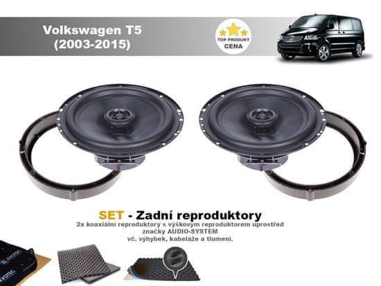 Audio-system SET - zadní reproduktory do Volkswagen T5 (2003-2015)- Audio System MXC