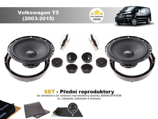 Audio-system SET - přední reproduktory do Volkswagen T5 (2003-2015)- Audio System MX