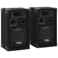 shumee 2 db fekete professzionális passzív színpadi hangszóró 800 W