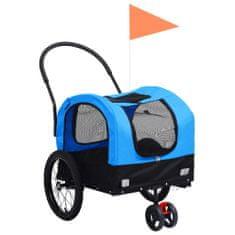 shumee Príves pre domáce zvieratá na bicykel/beh 2-v-1 modro-čierny
