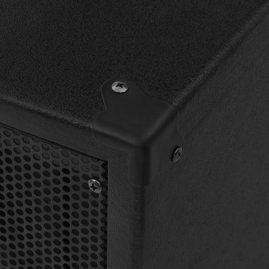 shumee Profesionálny pasívny hifi reproduktor 1200 W čierny 43x43x75 cm