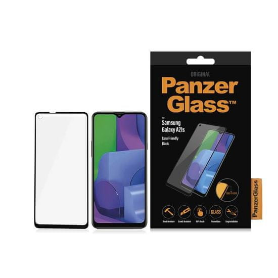 PanzerGlass zaštitno staklo za Samsung Galaxy A21s, CF, kaljeno, crno