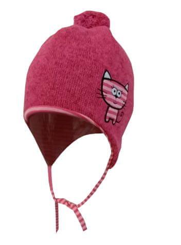 Yetty dívčí čepice P35 S růžová