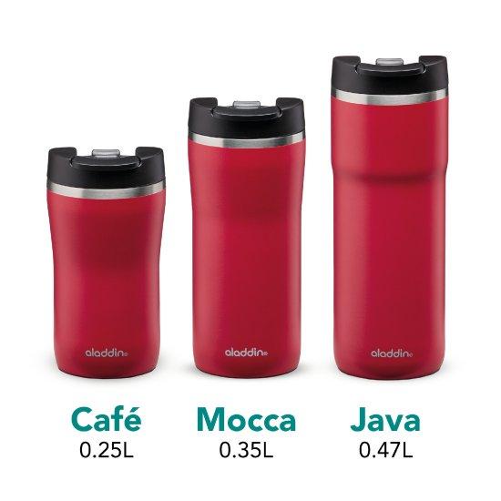 Aladdin Termo lonček Cafe Leak-Lock z vakuumsko izolacijo 0,35 l, rdeč