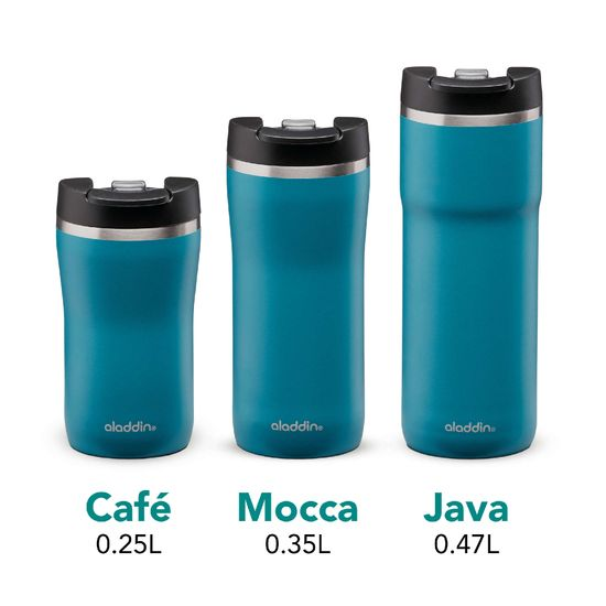 Aladdin Termo lonček Cafe Leak-Lock z vakuumsko izolacijo 0,35 l, moder