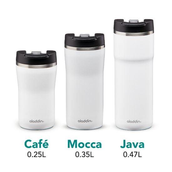 Aladdin Termo lonček Cafe Leak-Lock z vakuumsko izolacijo 0,35 l, bel