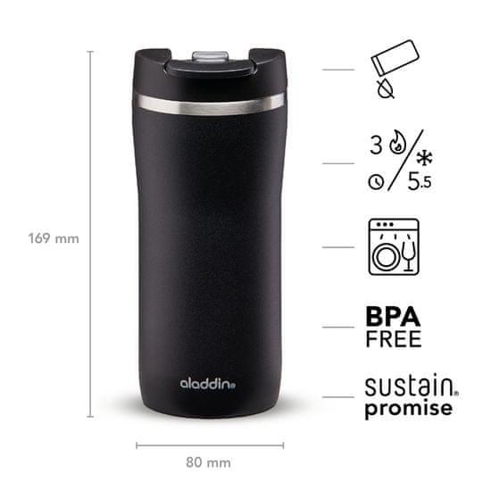 Aladdin Termo lonček Cafe Leak-Lock z vakuumsko izolacijo 0,35 l, črn