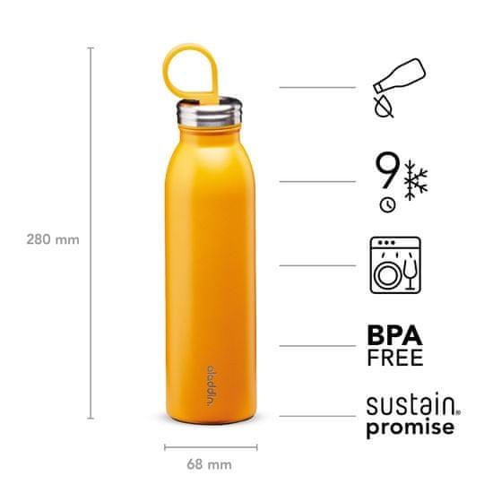 Aladdin Kovinska steklenička za vodo Chilled z vakuumsko izolacijo, rumena