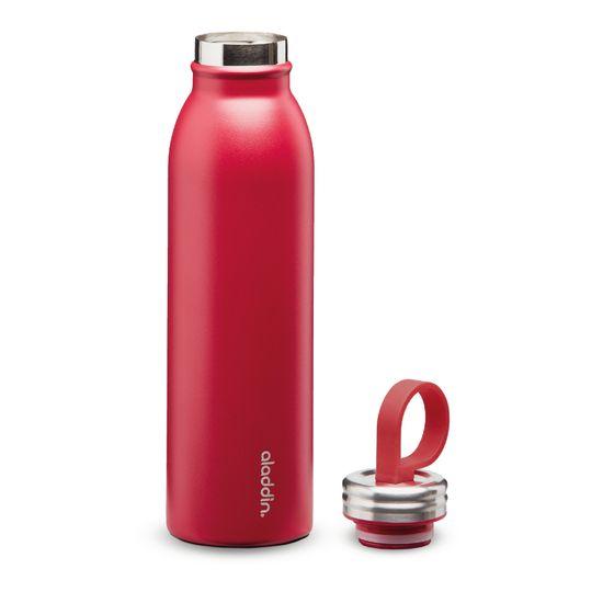 Aladdin Kovinska steklenička za vodo Chilled z vakuumsko izolacijo, rdeča