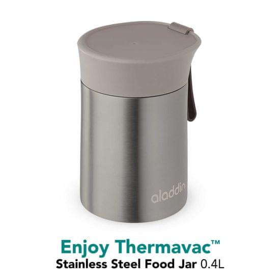 Aladdin Vakuumsko izolirana kovinska termo posoda za hrano Enjoy 0,4 l, rjava
