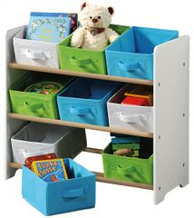 Kesper Organizer na hračky biely s farebnými boxami