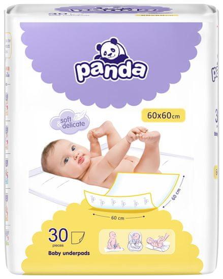 Panda Bella Happy Dětské přebalovací podložky 60x60 cm - 30ks