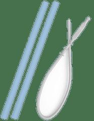 Minikoioi Flexi set slamic, moder, 2 kosa + ščetka