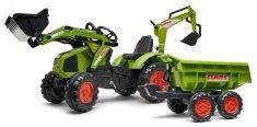 Falk Traktor Claas Axos šlapací - s přední i zadní lžící