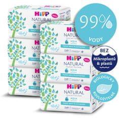 HiPP Babysanft Čistící vlhčené ubrousky Aqua Natural 6 x 2 x 60 ks