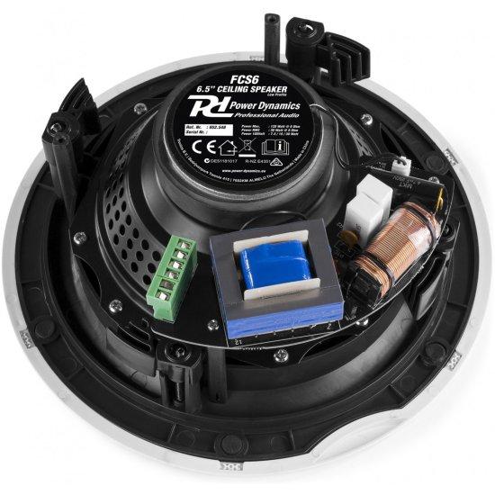 """Power Dynamics FCS6 podhľadový reproduktor 100V 6,5"""""""