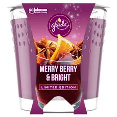 Glade 2 x Vonná svíčka - MERRY BERRY & BRIGHT - limitovaná edice