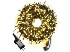 commshop Venkovní vánoční řetěz 50m (500 LED) - teplá bílá
