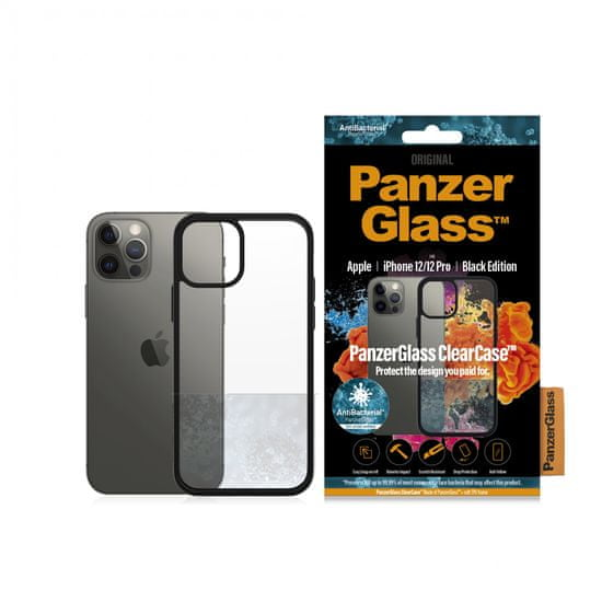PanzerGlass ClearCase Antibacterial za ovitek Apple iPhone 13,71 cm/6,1″ Black Edition 0252