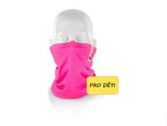 Respilon Nákrčník R-shield Light dětský Pink s protivirovou Nano membránou