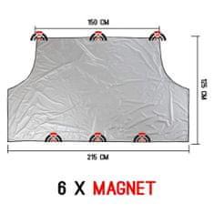 Bottari magnetna zaščita vetrobranskega stekla, 215x215 cm