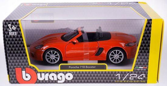 BBurago 1:24 Plus Porsche 718 Boxster, narancssárga
