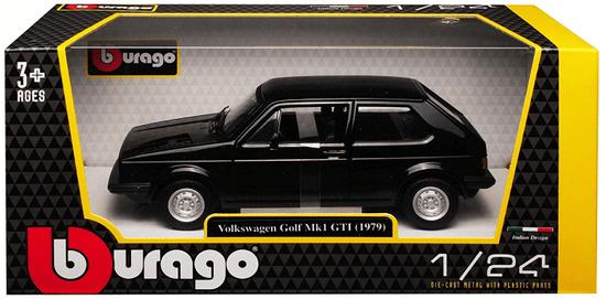 BBurago model 1:24 Plus Volkswagen Golf MK1 GTI czarny