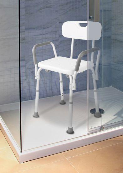 HomeLife Koupelnová židle výškově stavitelná, samostatně