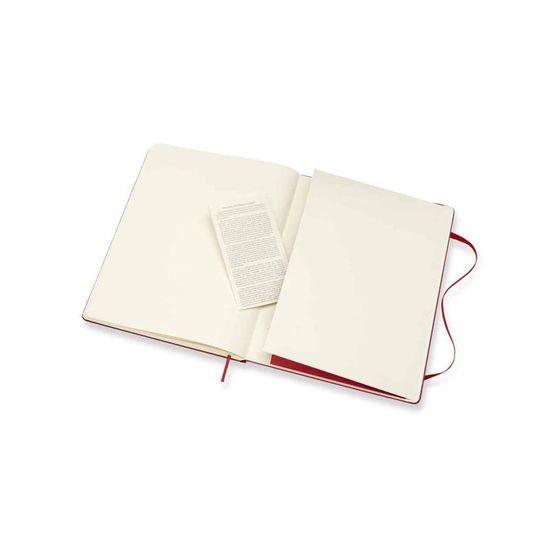 Moleskine zvezek, XL, s pikami, rdeč