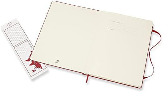 Moleskine zvezek, XL, brezčrten, rdeč