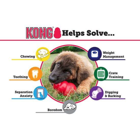 KONG Puppy žoga za pse, z luknjo, M/L