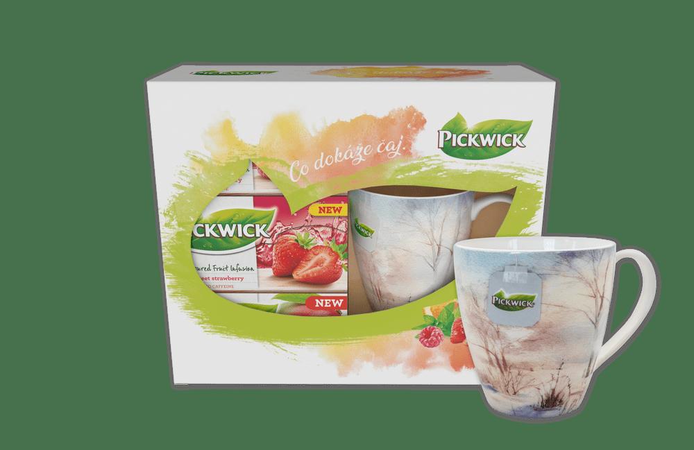 Pickwick Dárkové balení ovocných čajů s hrnečkem ZIMA