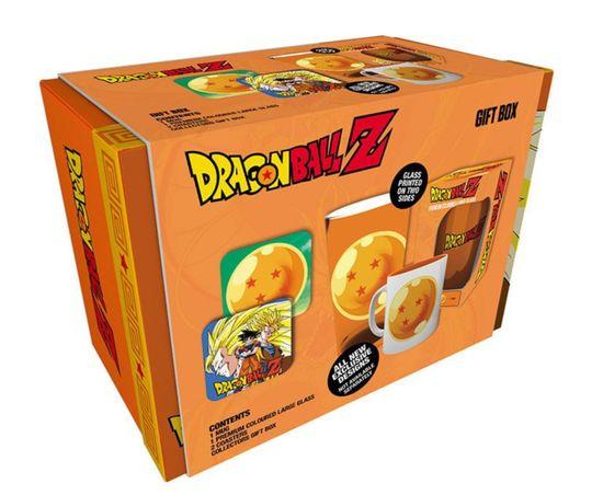 Zestaw prezentowy Dragon Ball Z - kubek, szklanka, podkładki na stół