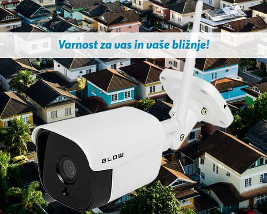 Blow H-345 IP kamera, zunanja, WiFi, 2K 2560x1440, 4MP, nočno snemanje, senzor gibanja, aplikacija