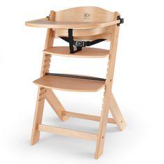 KinderKraft otroški stol za hranjenje ENOCK wooden, les