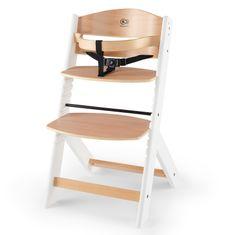 KinderKraft otroški stol za hranjenje ENOCK wooden white, bela/les
