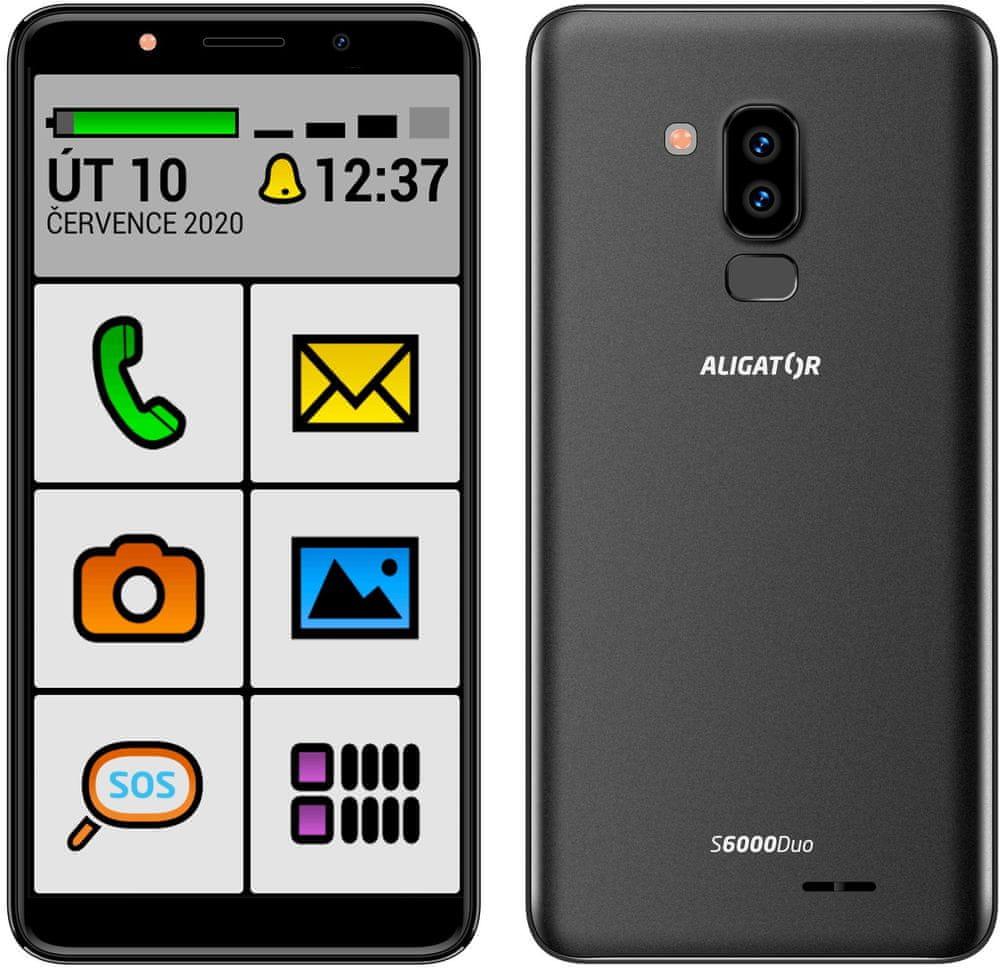 Aligator S6000 Senior, 1GB/16GB, Black - rozbaleno